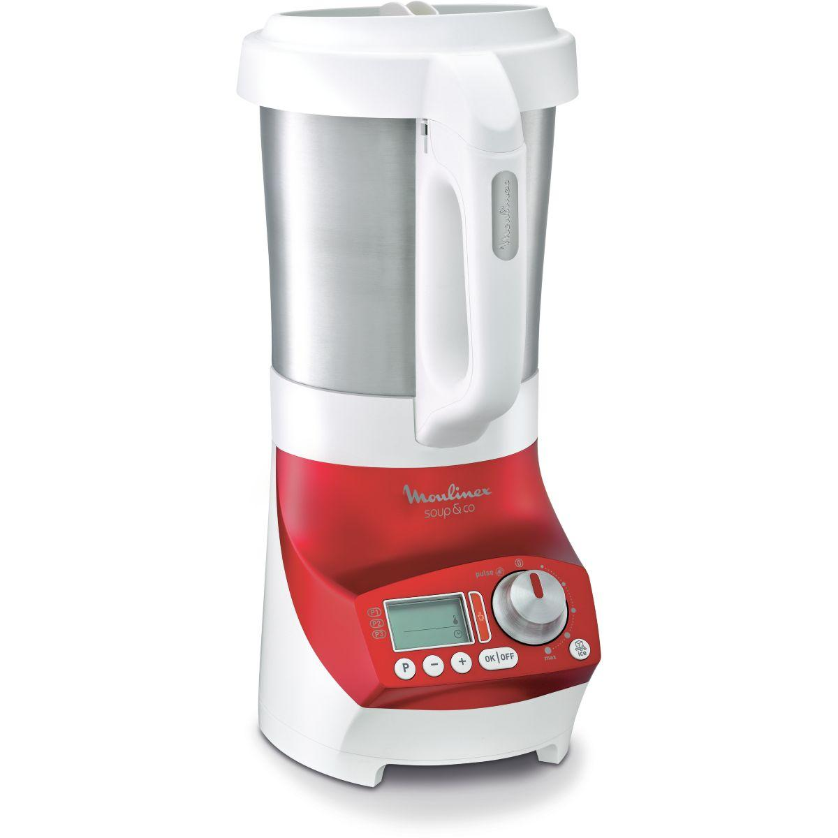 Blender chauffant moulinex soup & co lm906110 2l rouge