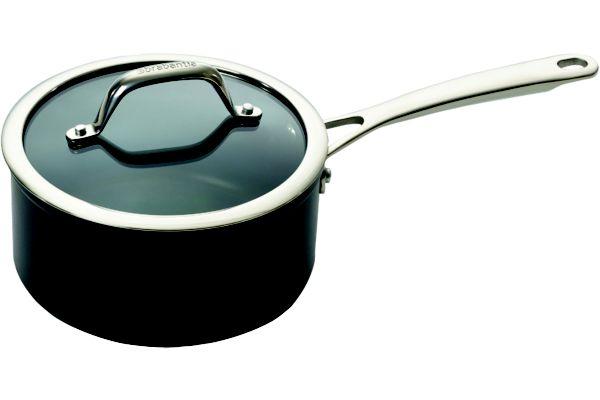 Casserole brabantia tritanium Ø18cm + couvercle en verre - 5% de remise immédiate avec le code : fete5 (photo)