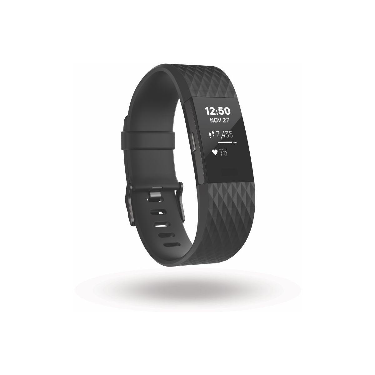 Bracelet connect? fitbit charge 2 black gunmetal l - 5% de rem...