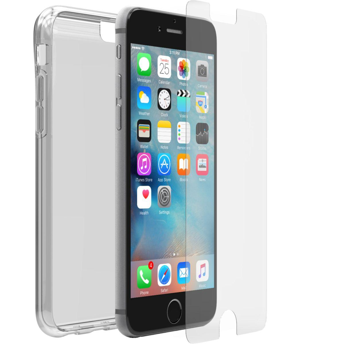 Coque + prot�ge �cran otterbox iphone 7/8 clear skin+ alpha glass - livraison offerte : code liv (photo)