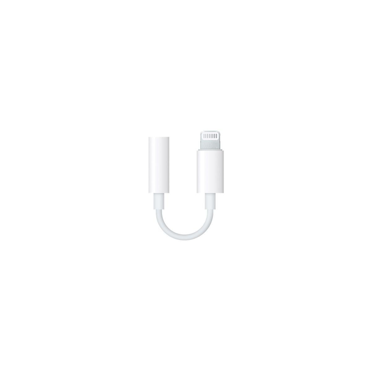 Adaptateur apple lightning vers mini-jac (photo)