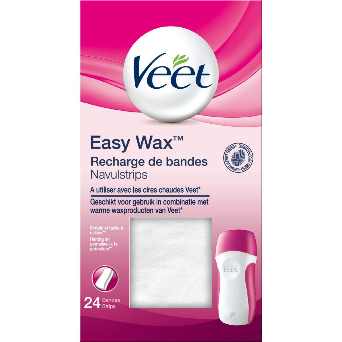 Bande � cire veet recharge bandes easywax (photo)