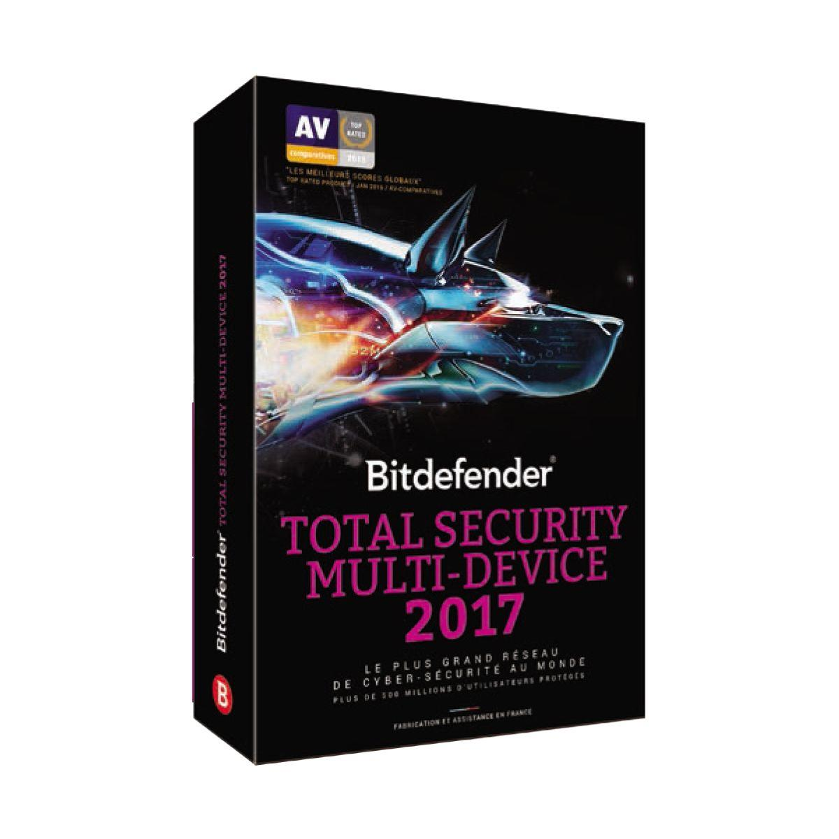 Logiciel pc bitdefender total security 2017 - - 15% de remise immédiate avec le code : cash15 (photo)