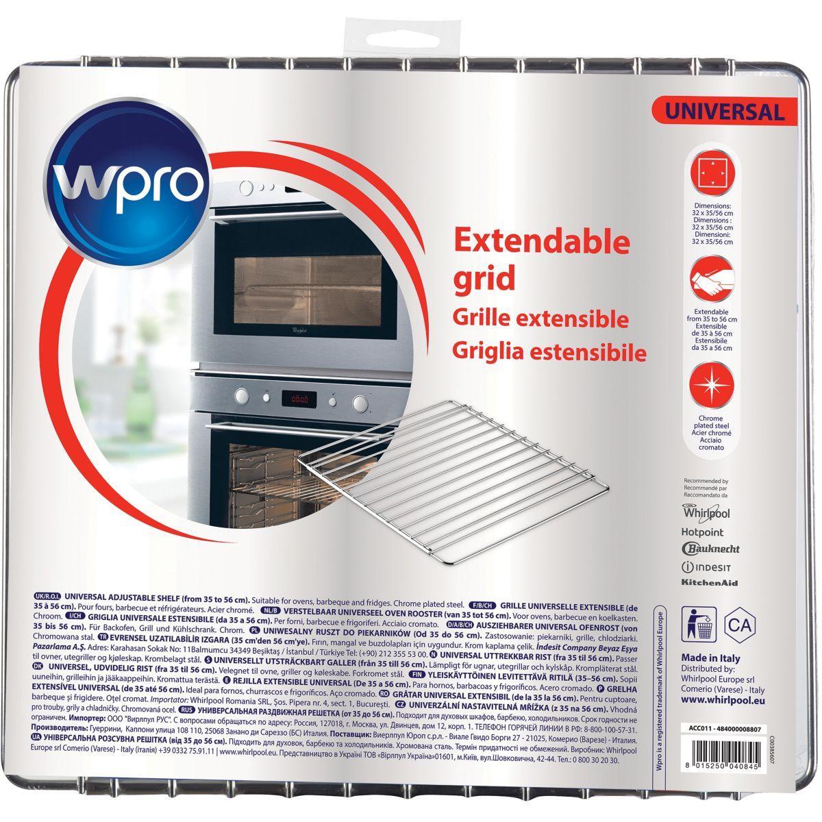 Equipement wpro acc011 grille extensible - 2% de remise imm�diate avec le code : wd2 (photo)