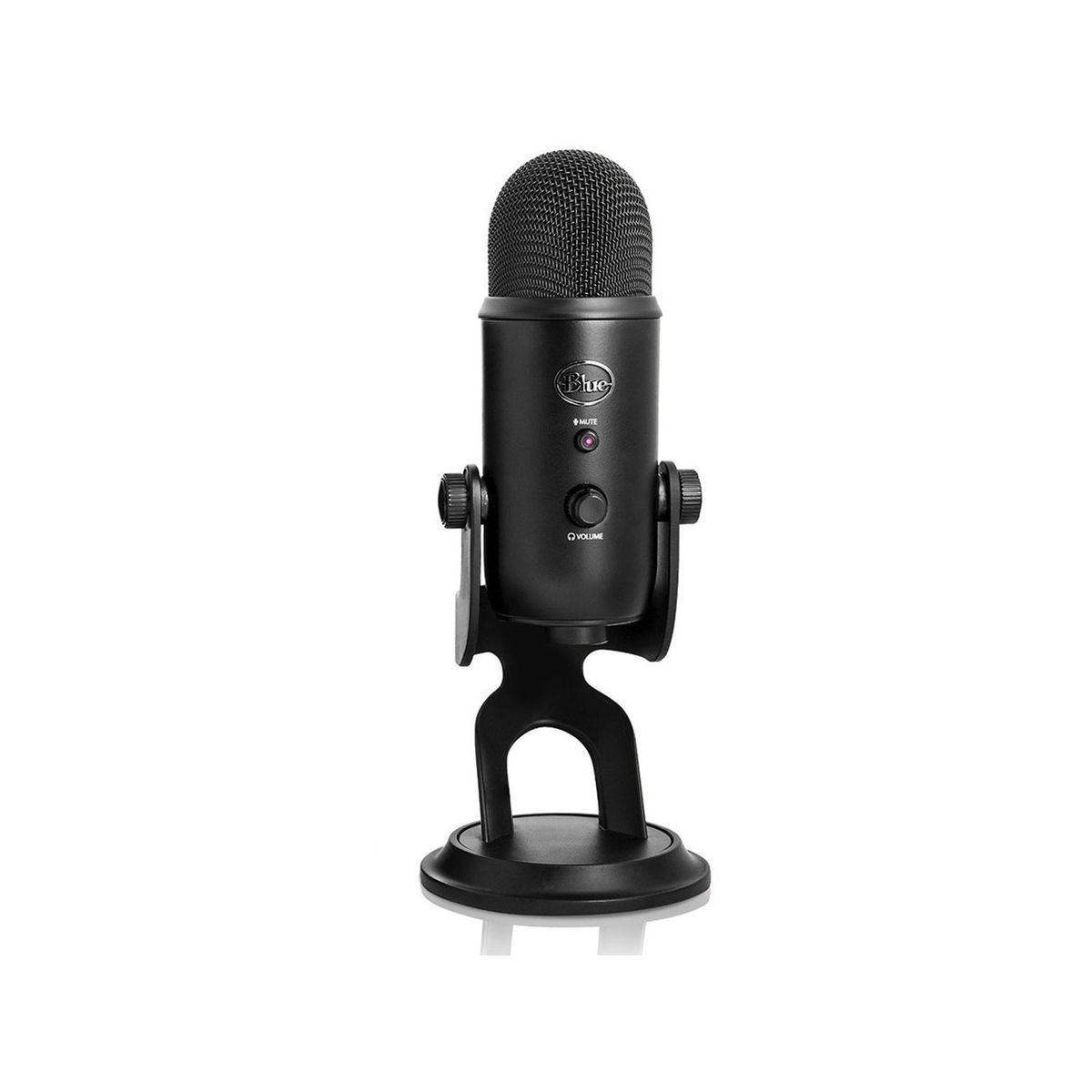 Micro gamer blue microphones yeti black - livraison offerte : code premium (photo)