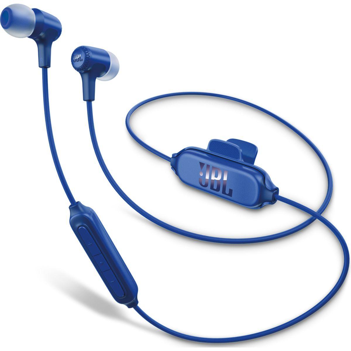 Ecouteurs intra jbl e25 bt bleu - livraison offerte : code livprem