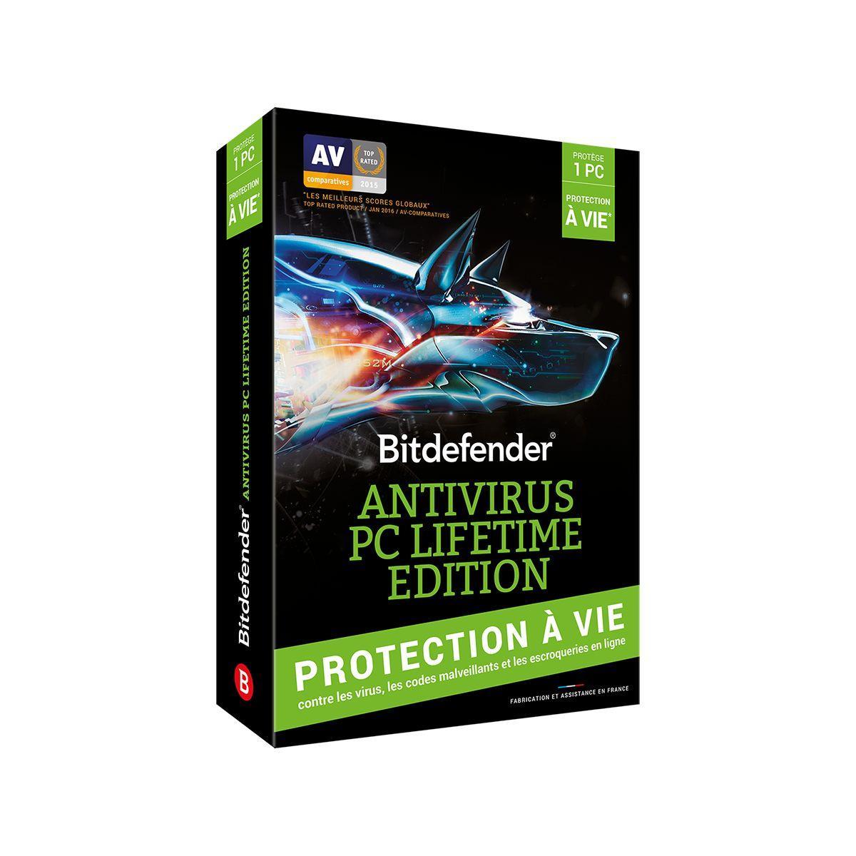Logiciel pc bitdefender antivirus lifetime ed - 7% de remise immédiate avec le code : cash7 (photo)