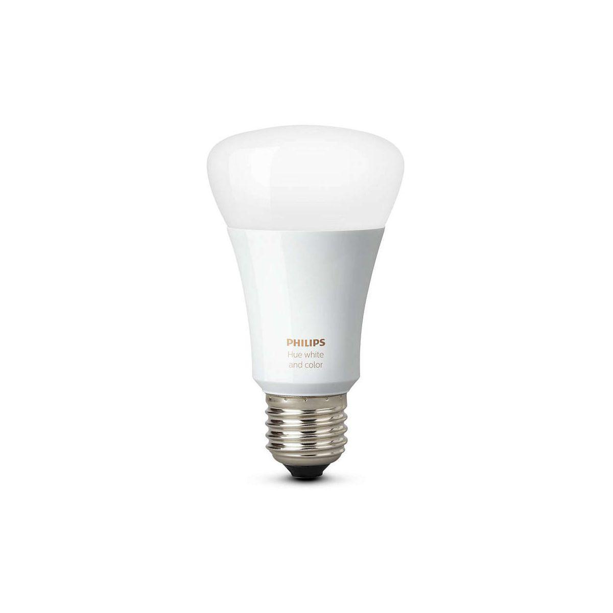 Ampoule connectable philips e27 hue white & colors - livraison offerte : code liv (photo)