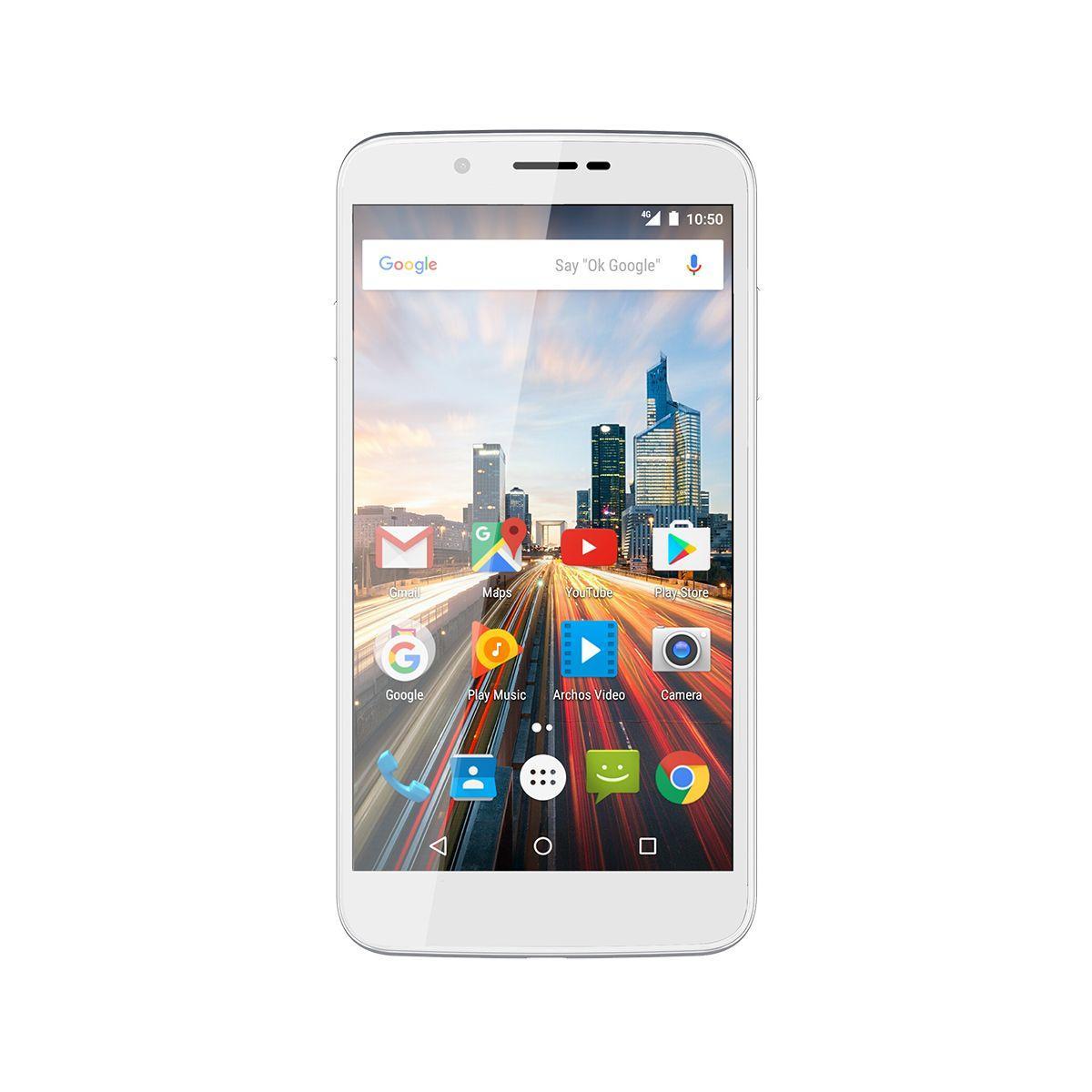 Smartphone archos 55 helium blanc 16 go