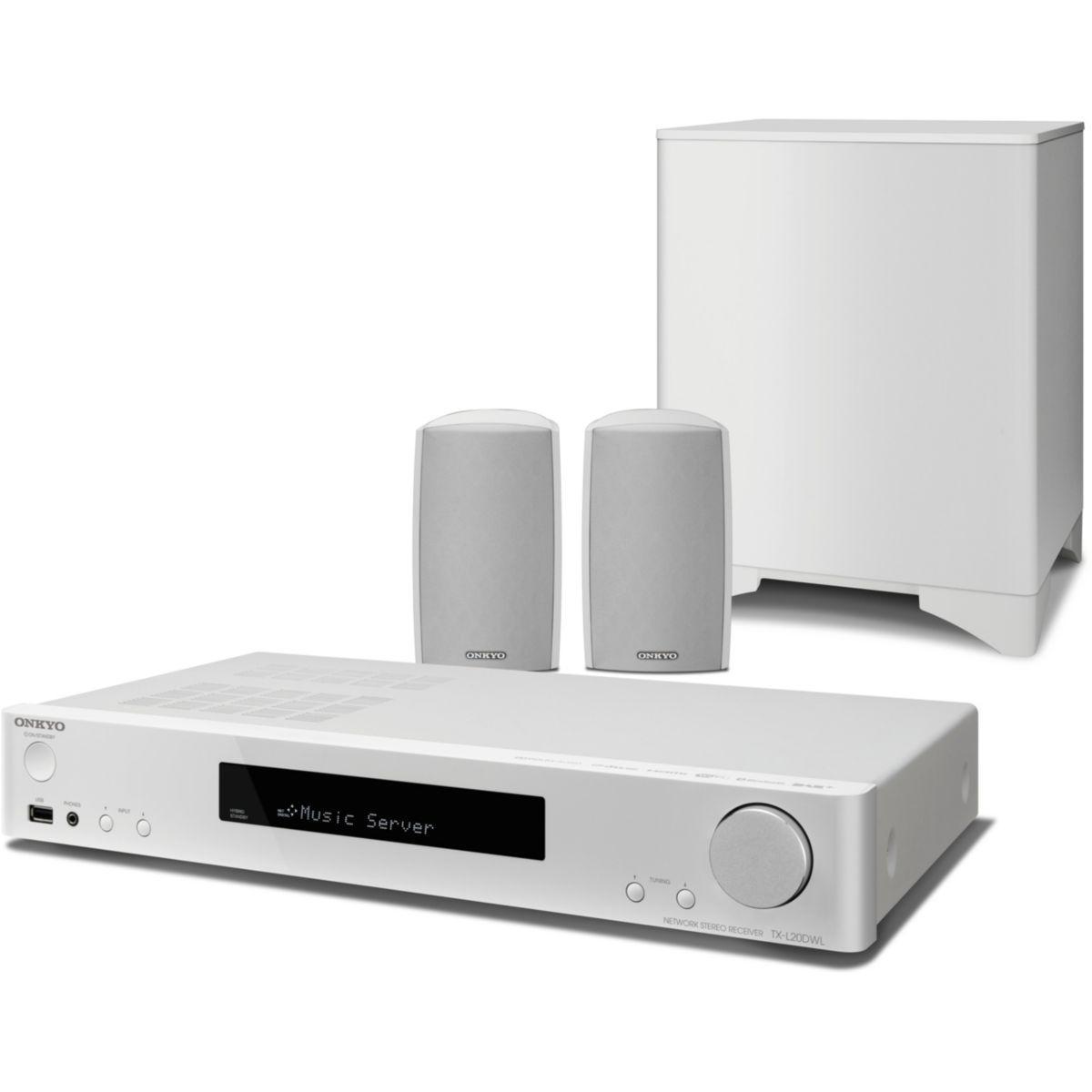 Enceintes tv onkyo ls5200 blanc - livraison offerte : code livdomicile (photo)