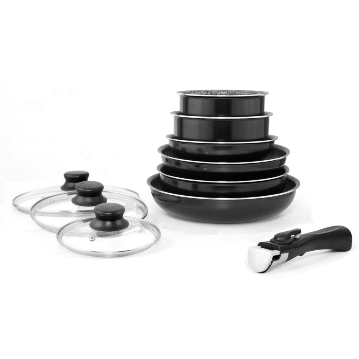 Batterie de cuisine arthur martin 10 pi�ces noir am310b - 15% de remise imm�diate avec le code : fete15 (photo)