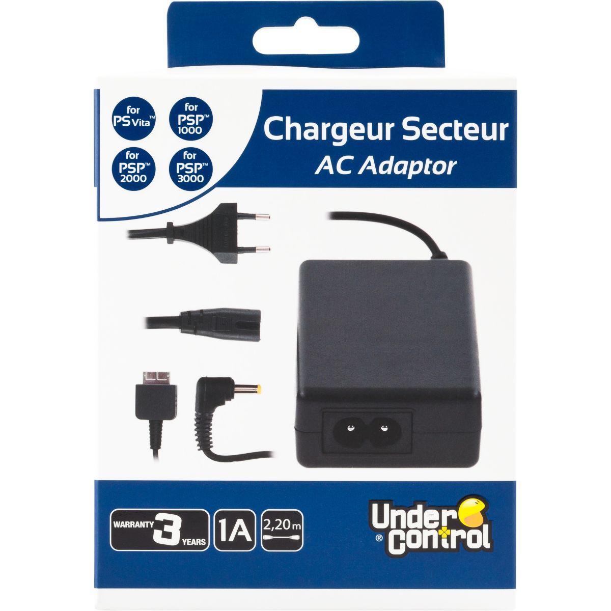 Chargeur under control chargeur ps vita - psp - 2% de remise imm�diate avec le code : deal2 (photo)