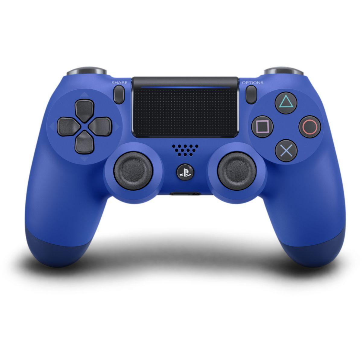 Acc. sony manette ps4 dual shock bleu v2 (photo)