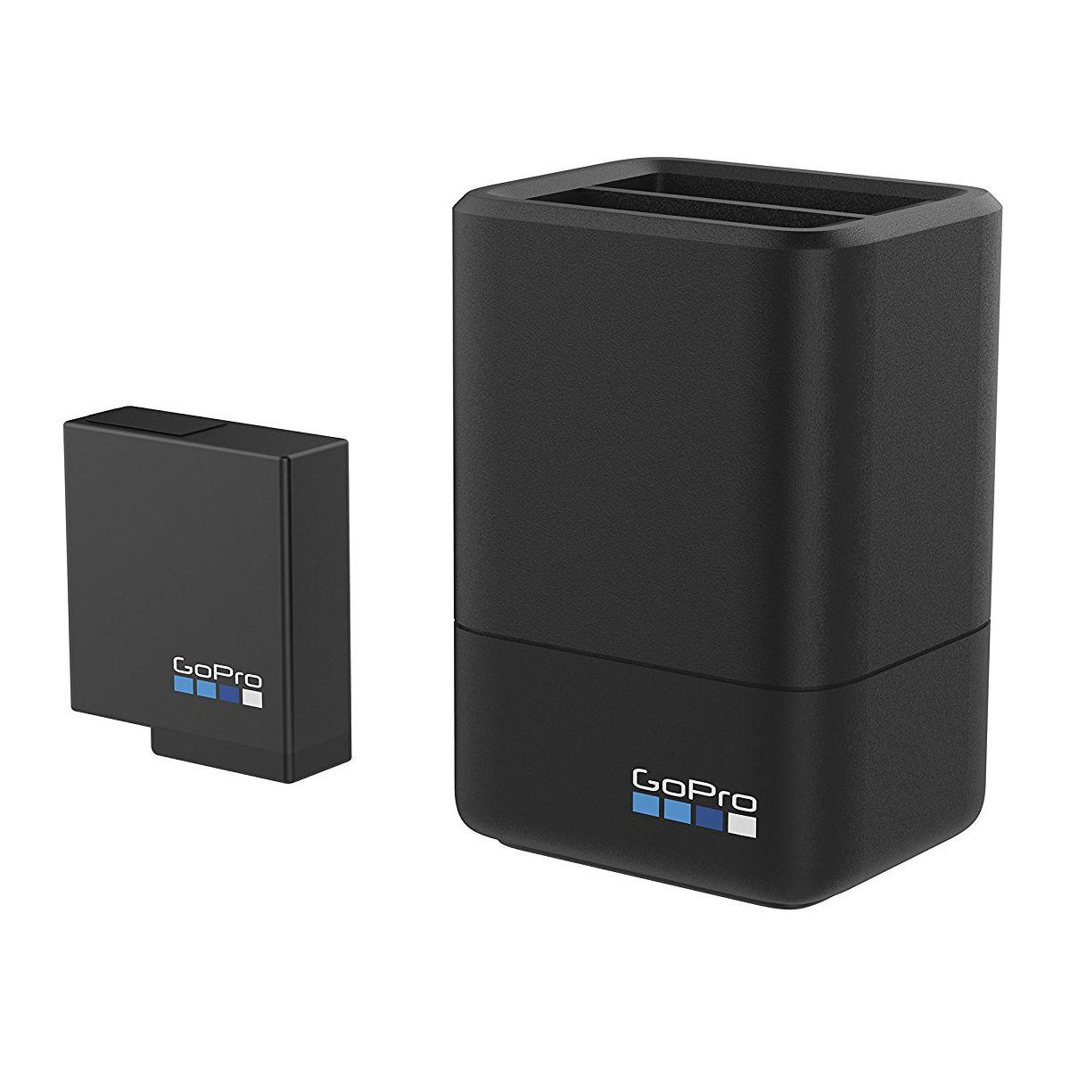 Chargeur gopro double slot + batterie (hero5 black) (photo)