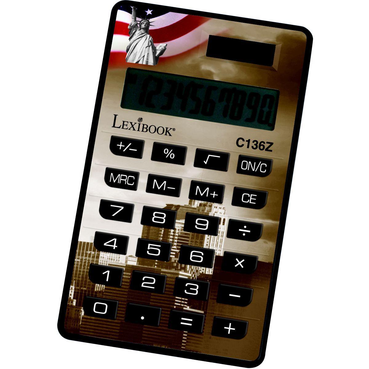 Calculatrice standard lexibook calculatrice 10 chiffres cities-assortis - 2% de remise imm�diate avec le code : deal2 (photo)