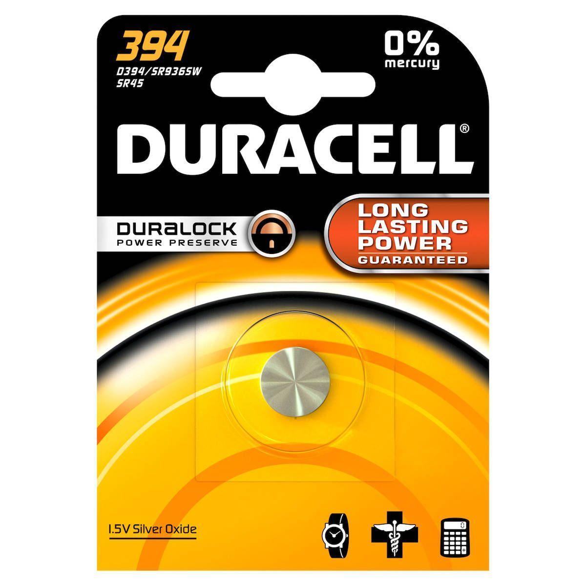 Pile non rechargeable duracell 394 - 2% de remise imm�diate avec le code : automne2 (photo)