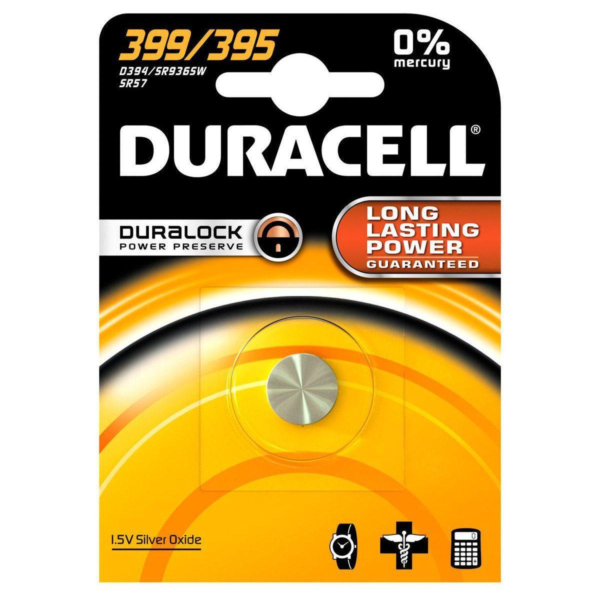 Pile non rechargeable duracell 399/395 - 2% de remise imm�diate avec le code : automne2 (photo)
