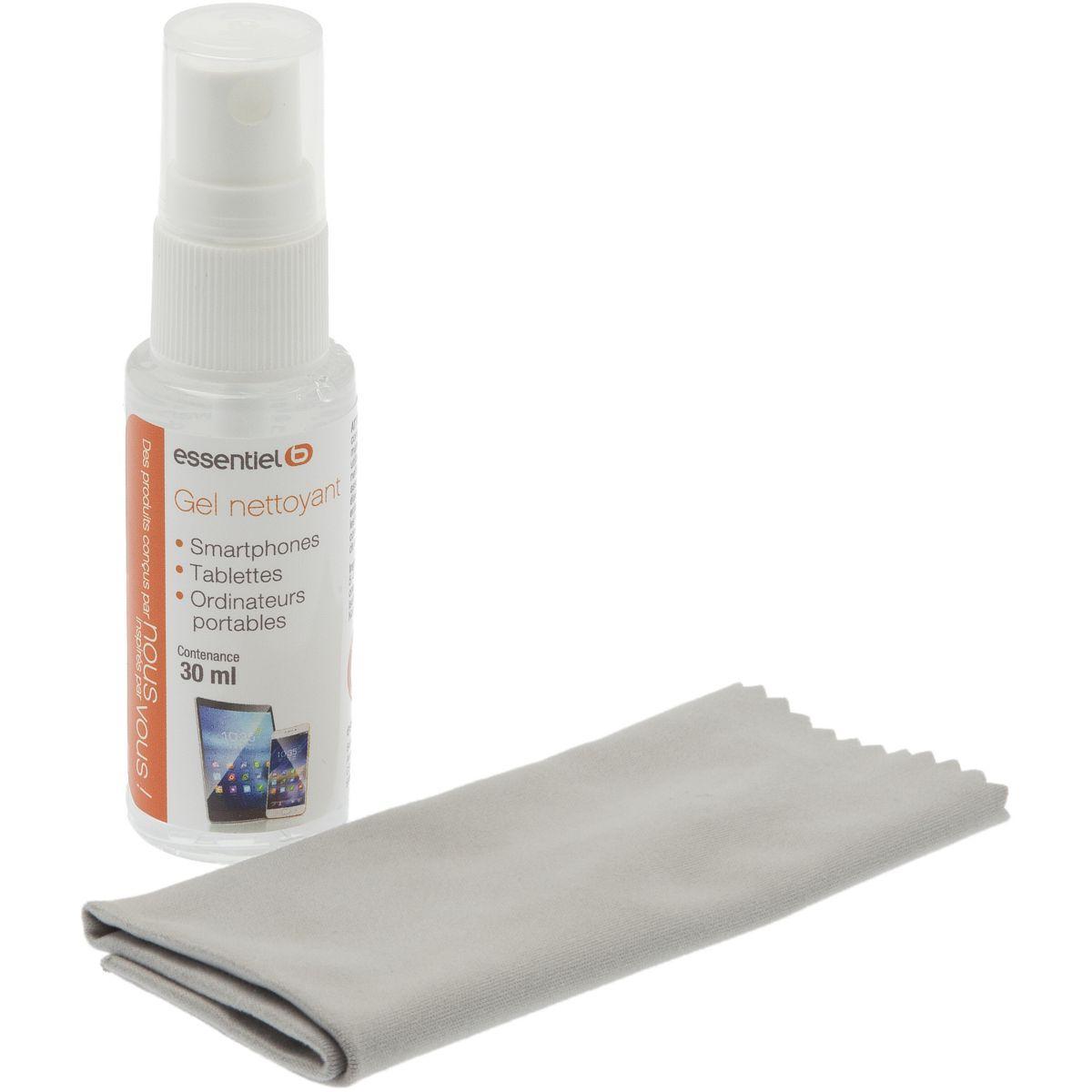Kit de nettoyage essentielb spray gel 30ml+chamoisine (photo)