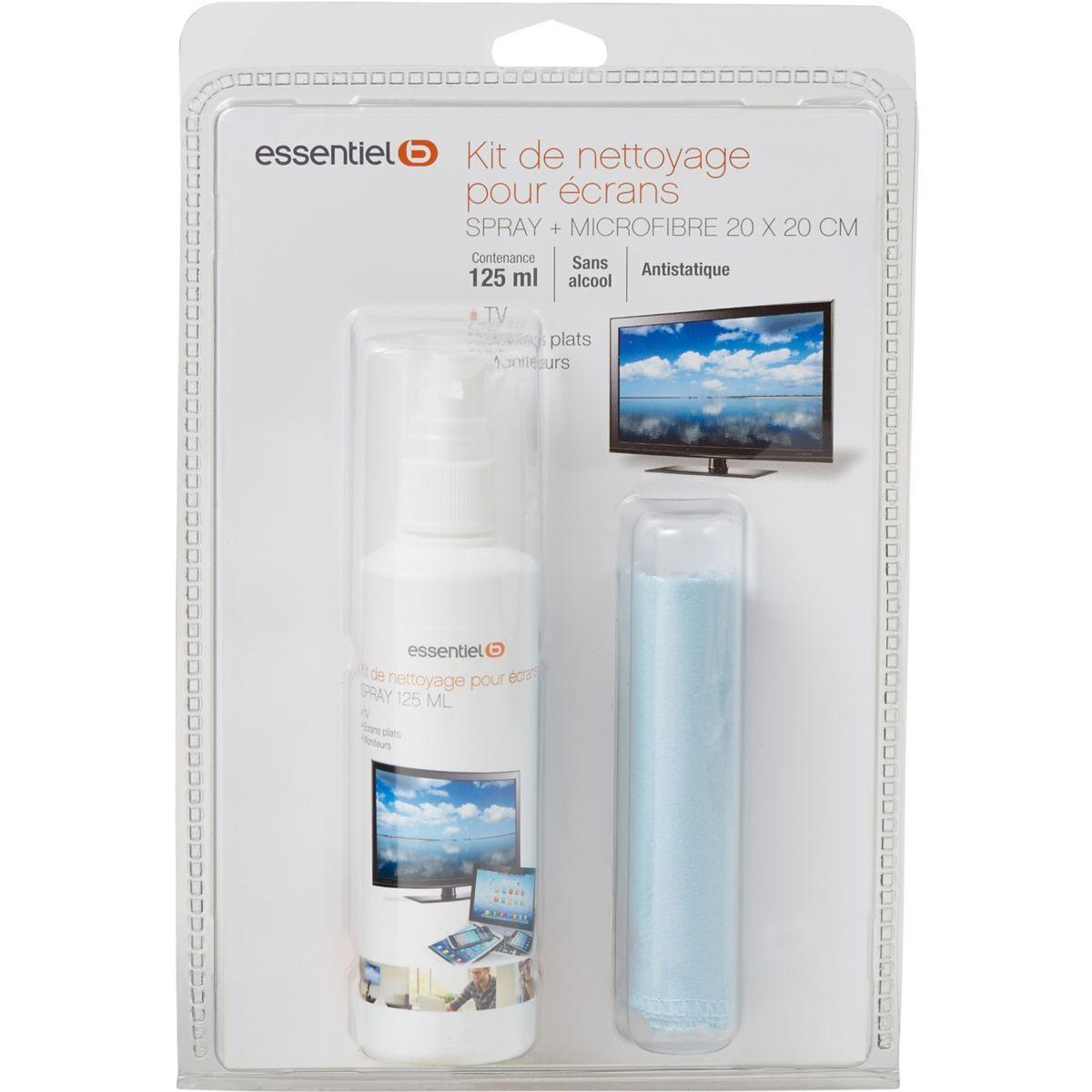 Kit de nettoyage essentielb spray 125ml+micro fibre 20x20cm (photo)