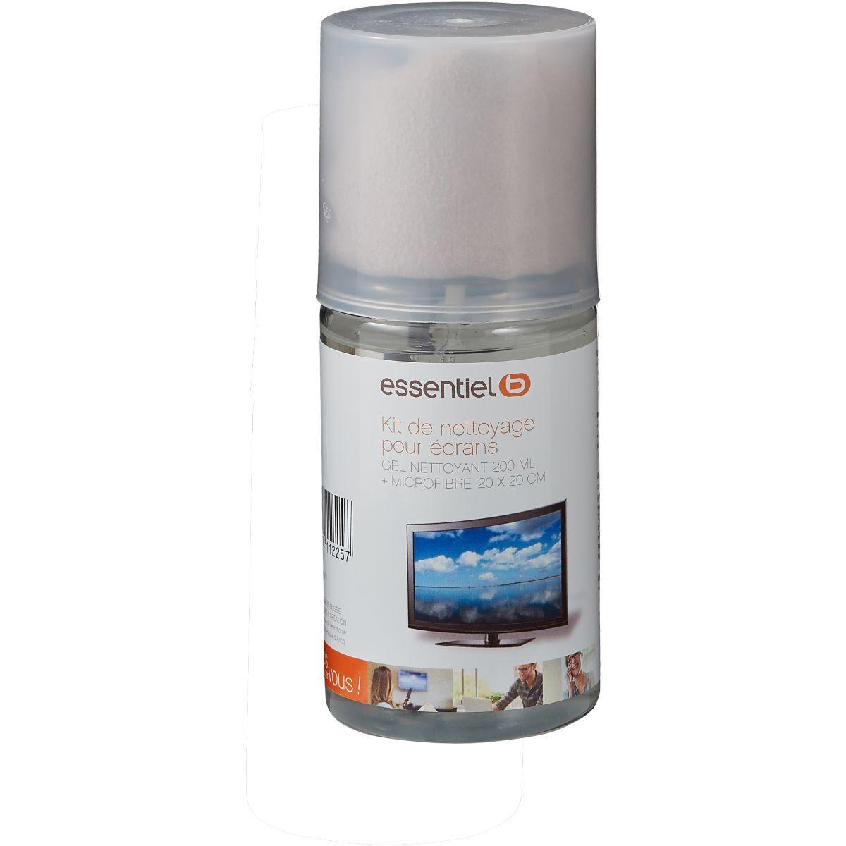 Kit de nettoyage essentielb gel 200ml+micro fibre 25x25cm (photo)