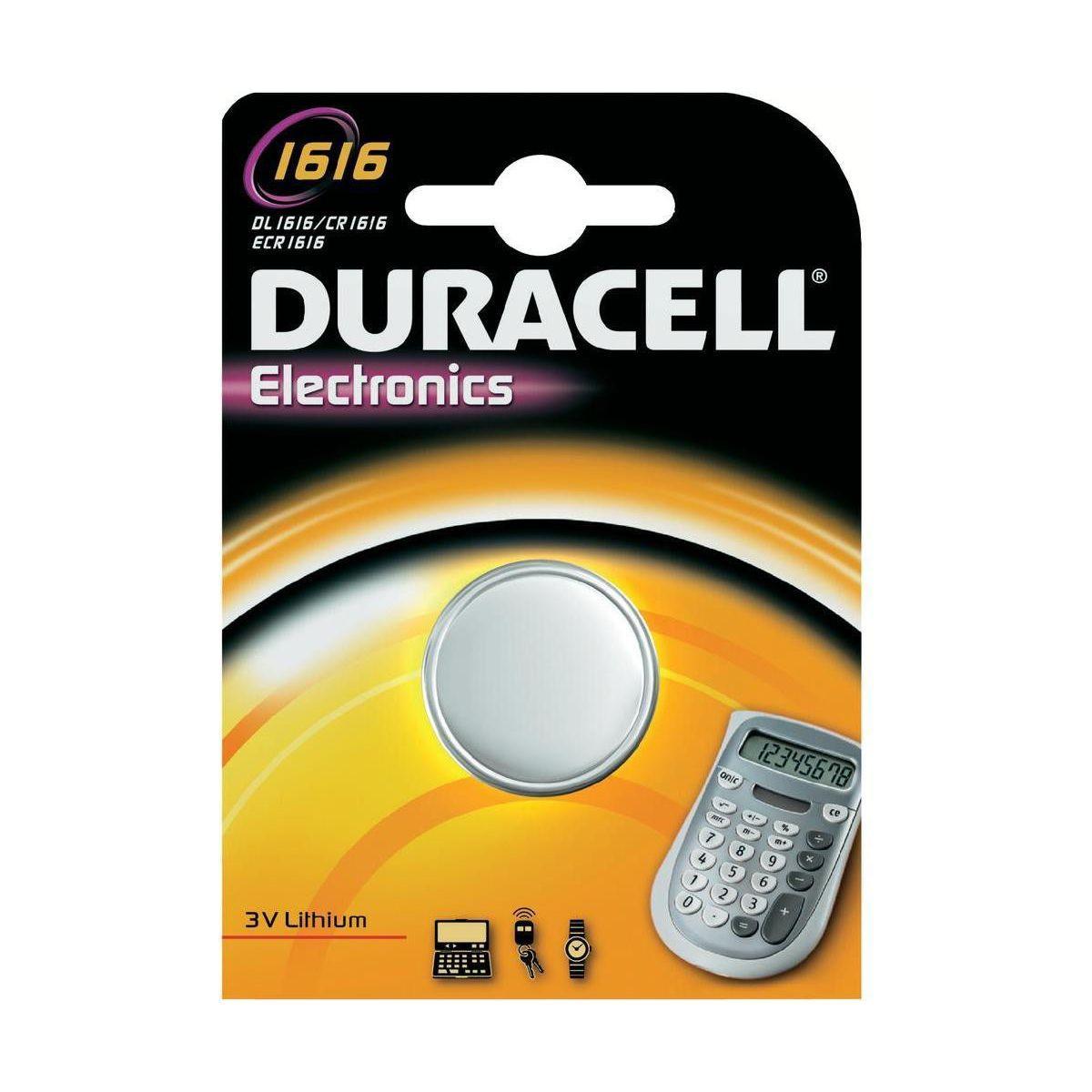 Pile non rechargeable duracell 1616 x1 - 5% de remise imm�diate avec le code : automne5 (photo)