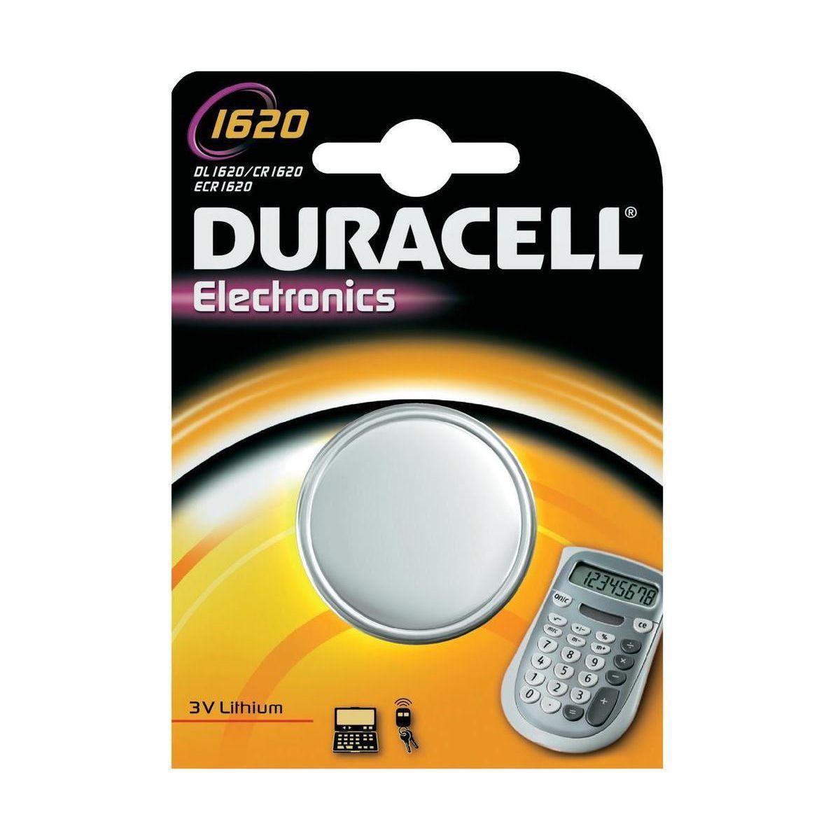 Pile non rechargeable duracell 1620 x1 - 2% de remise imm�diate avec le code : automne2 (photo)