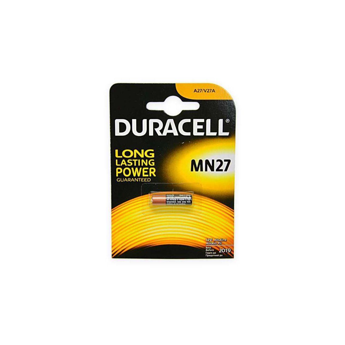 Pile non rechargeable duracell mn27 x1 - 2% de remise imm�diate avec le code : automne2 (photo)