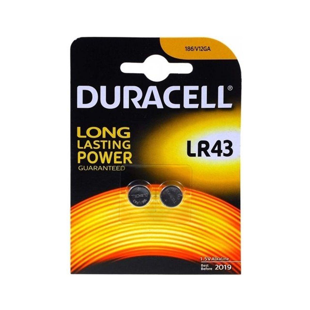 Pile non rechargeable duracell lr43 - 186 x2 - 2% de remise imm�diate avec le code : automne2 (photo)