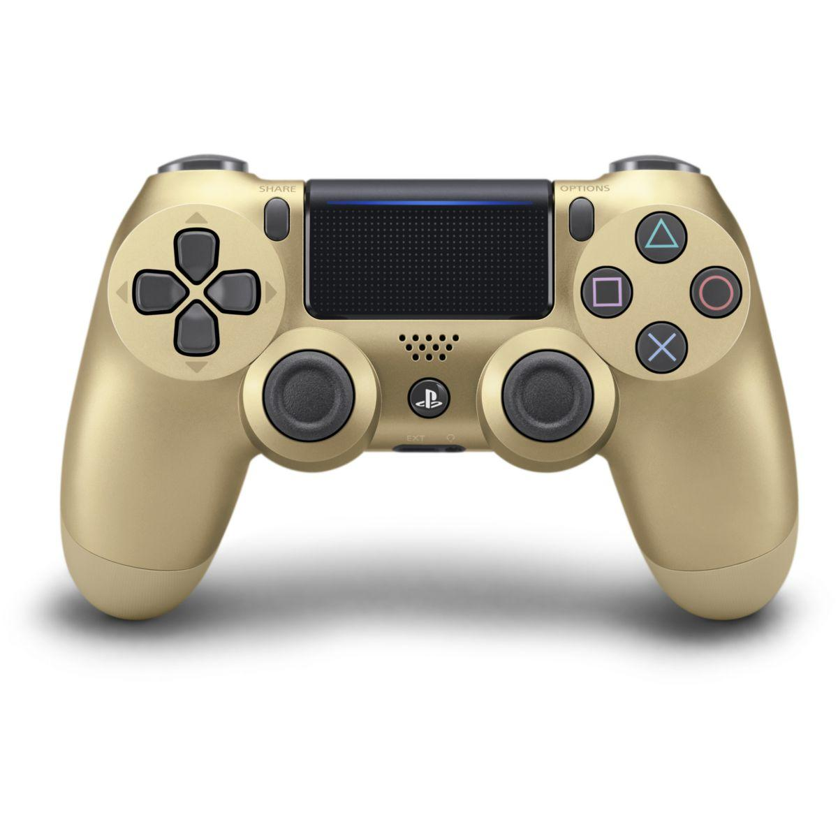 Acc. sony manette dual shock ps4 gold v2 (photo)