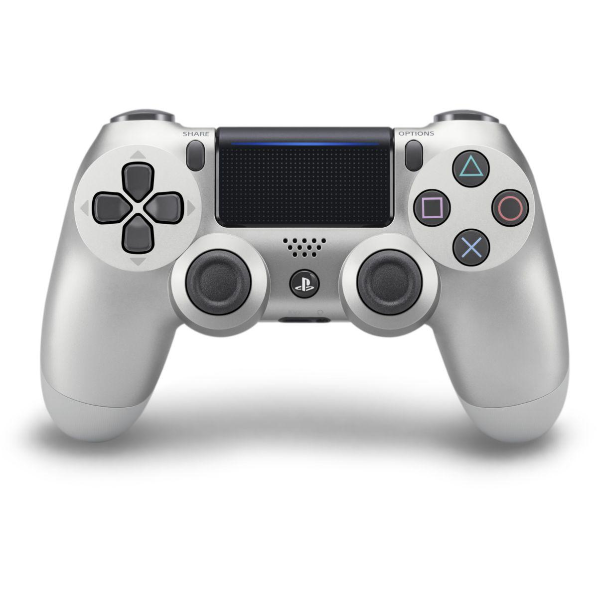 Acc. sony manette dual shock ps4 silver (photo)
