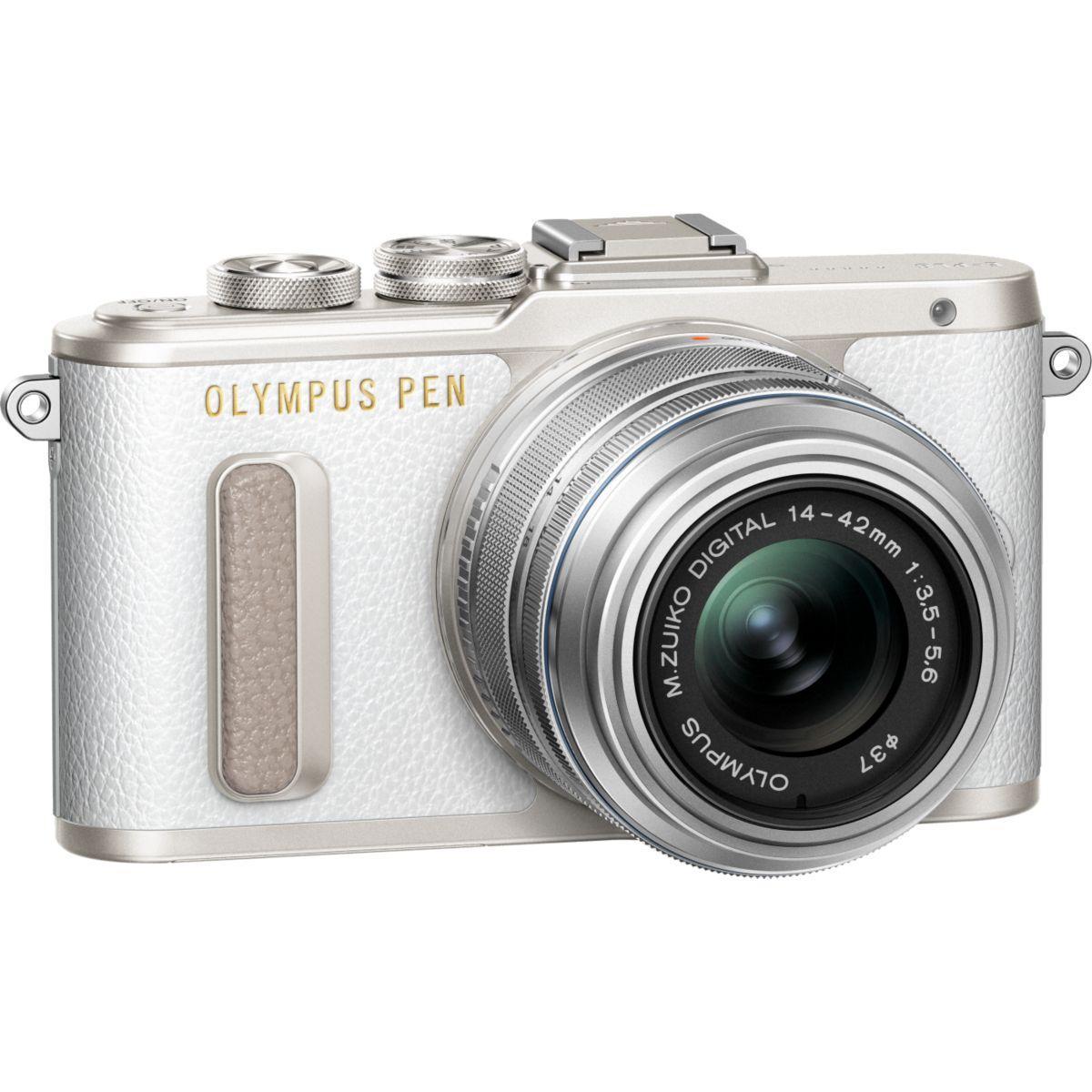 Apn olympus e-pl8 blanc + 14-42pz silver - 10% de remise immédiate avec le code : multi10 (photo)