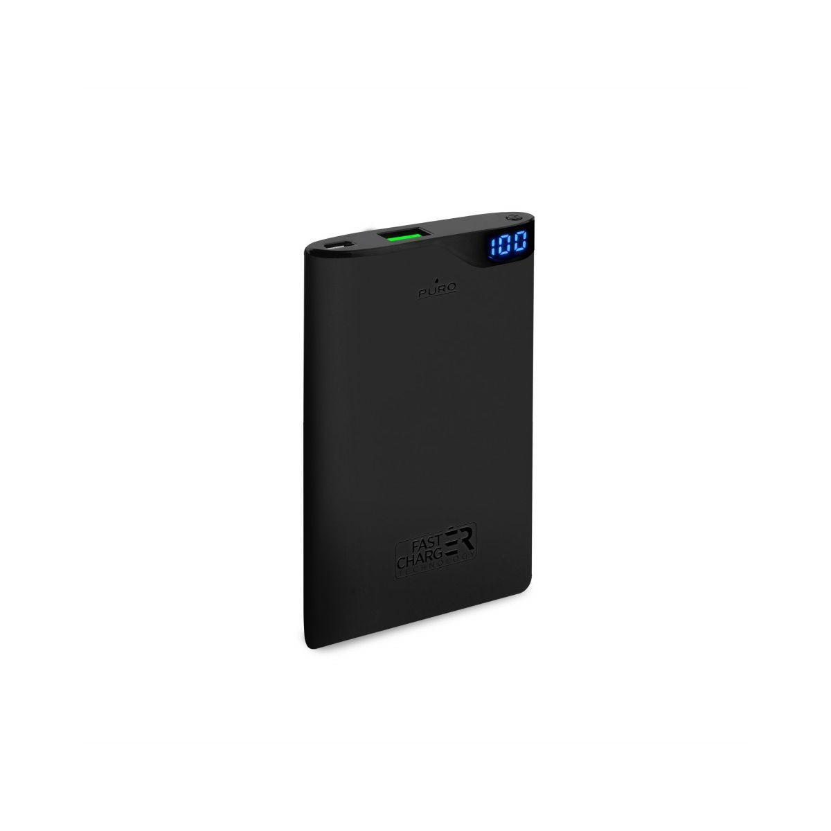 Batterie externe puro 4 000 mah noir 2 usb - livraison offerte : code premium (photo)