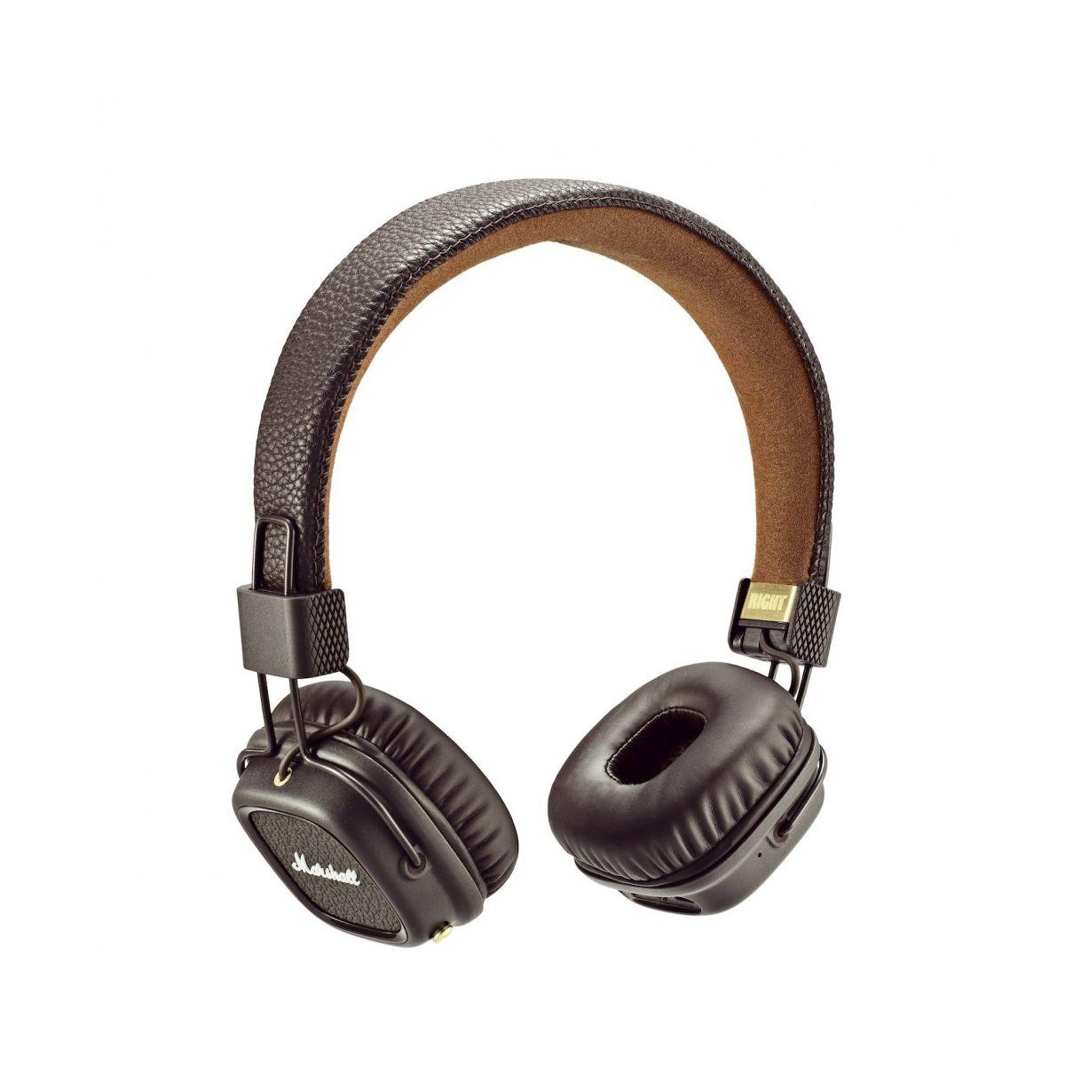 Casque audio bluetooth marshall major ii bt marron - livraison offerte : code liv (photo)