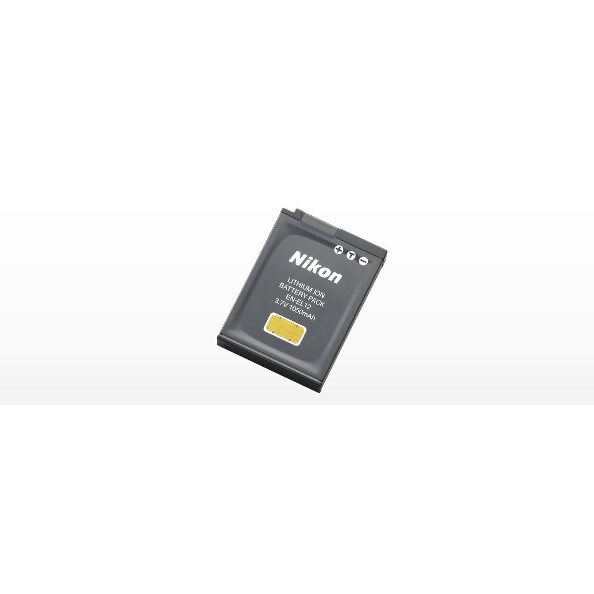 Batterie nikon en-el12 lithium-ion - livraison offerte : code liv (photo)