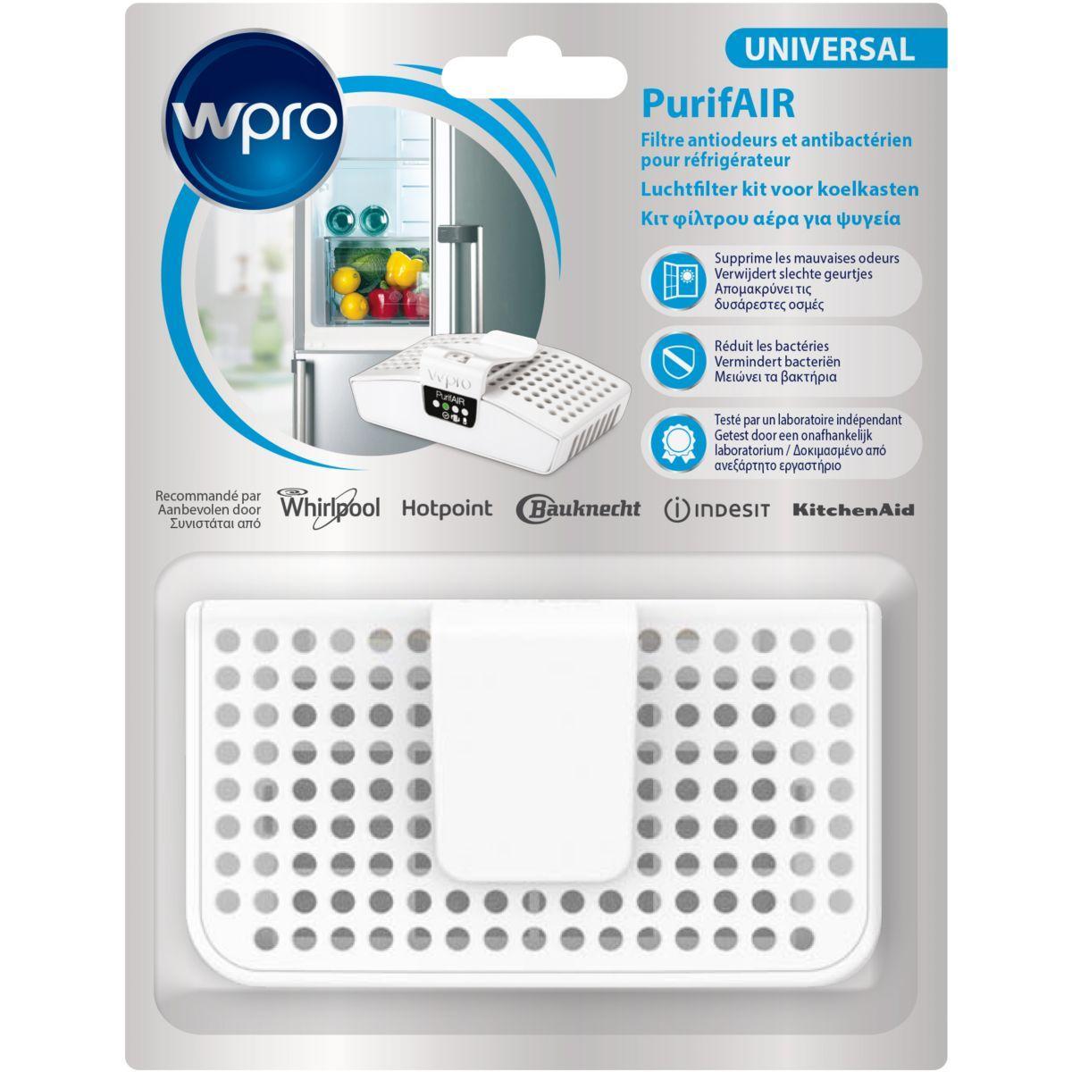 Absorbeur d'odeur wpro pur100 filtre anti odeur/antibact�rien