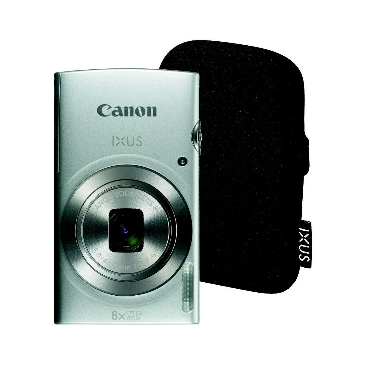 Appareil photo compact canon ixus 185 silver + etui (photo)