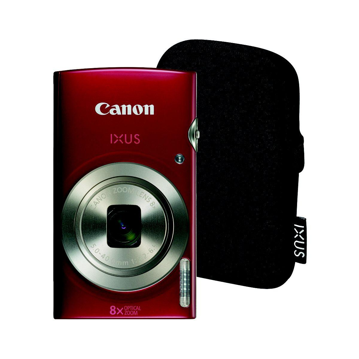 Appareil photo compact canon ixus 185 rouge + etui (photo)