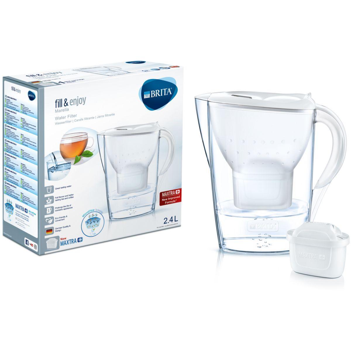 Image of BRITA Marella Filtre à eau pour carafe 2.4L Blanc