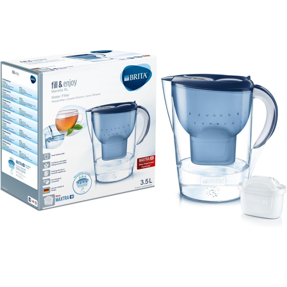 Image of BRITA Marella XL Filtre à eau pour carafe 3.5L Bleu