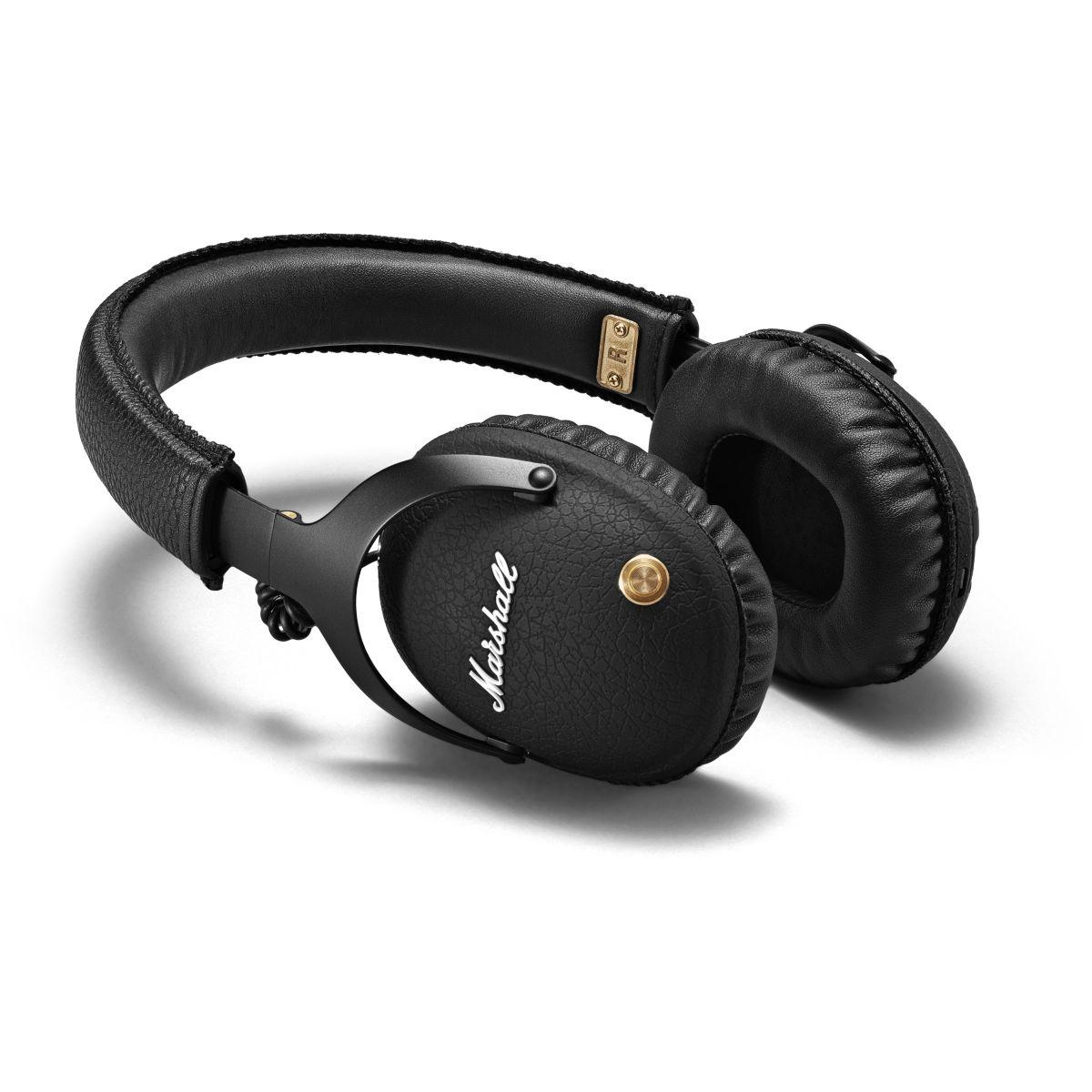 Casque + micro marshall monitor bt black - livraison offerte : code liv (photo)