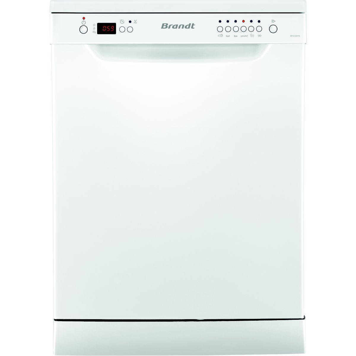 Lave-vaisselle 60cm brandt dfh 12227w - 2% de remise immédiate avec le code : cool2 (photo)
