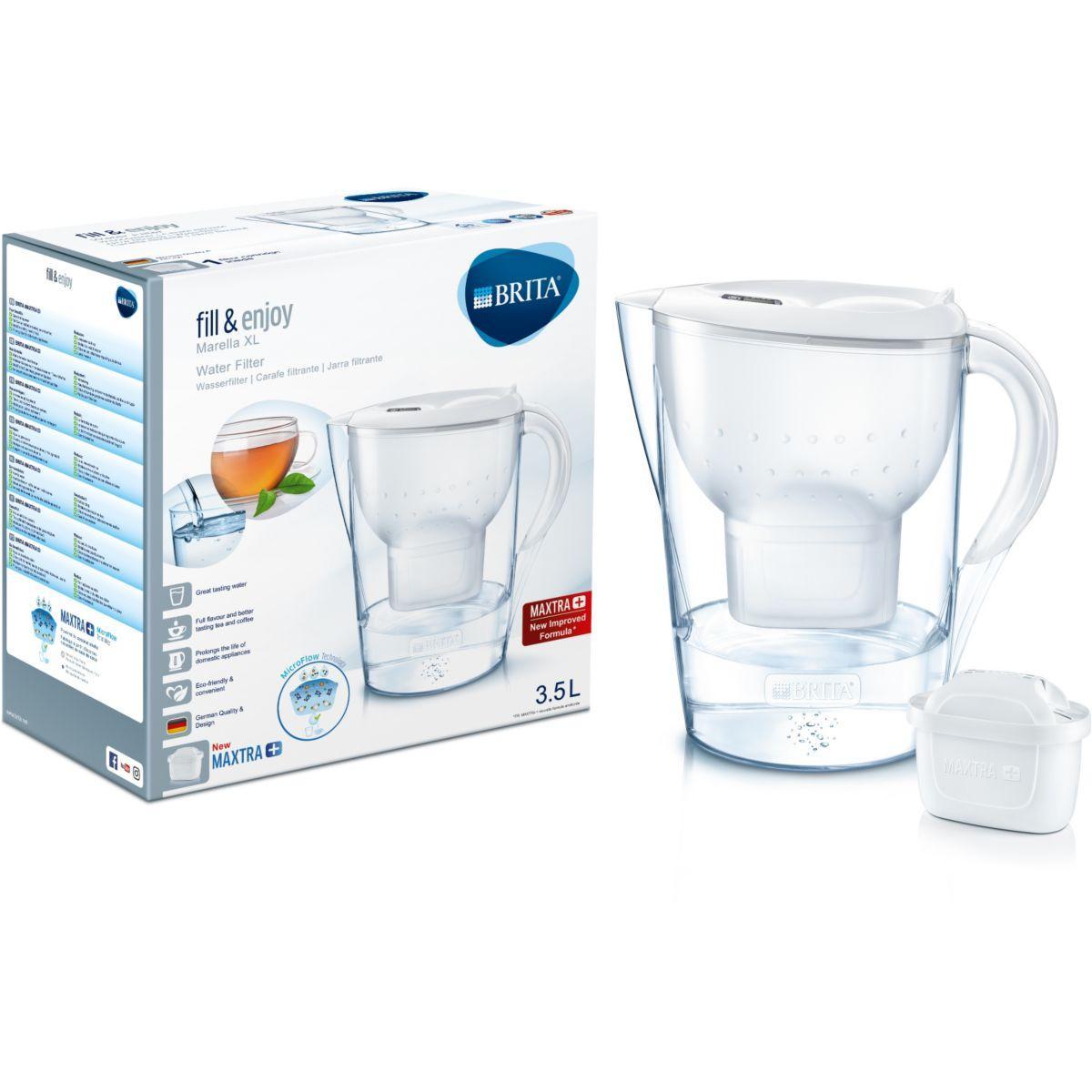 Image of BRITA Marella XL Filtre à eau pour carafe 3.5L Blanc