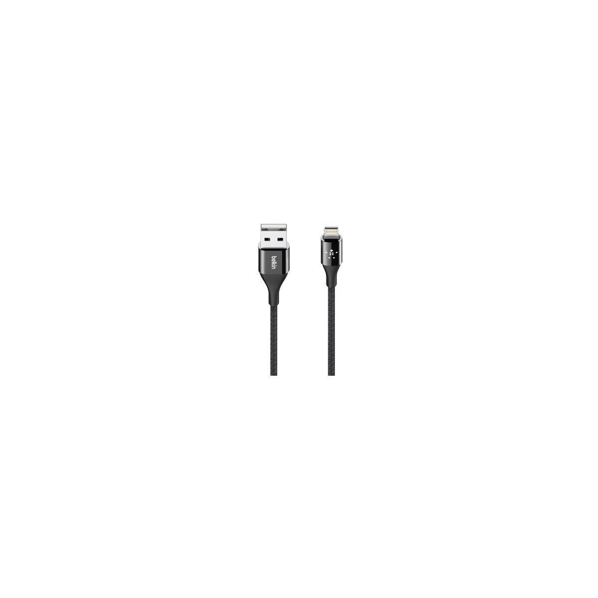 Câble lightning belkin kevlar 1m20 noir - 10% de remise immédiate avec le code : multi10 (photo)