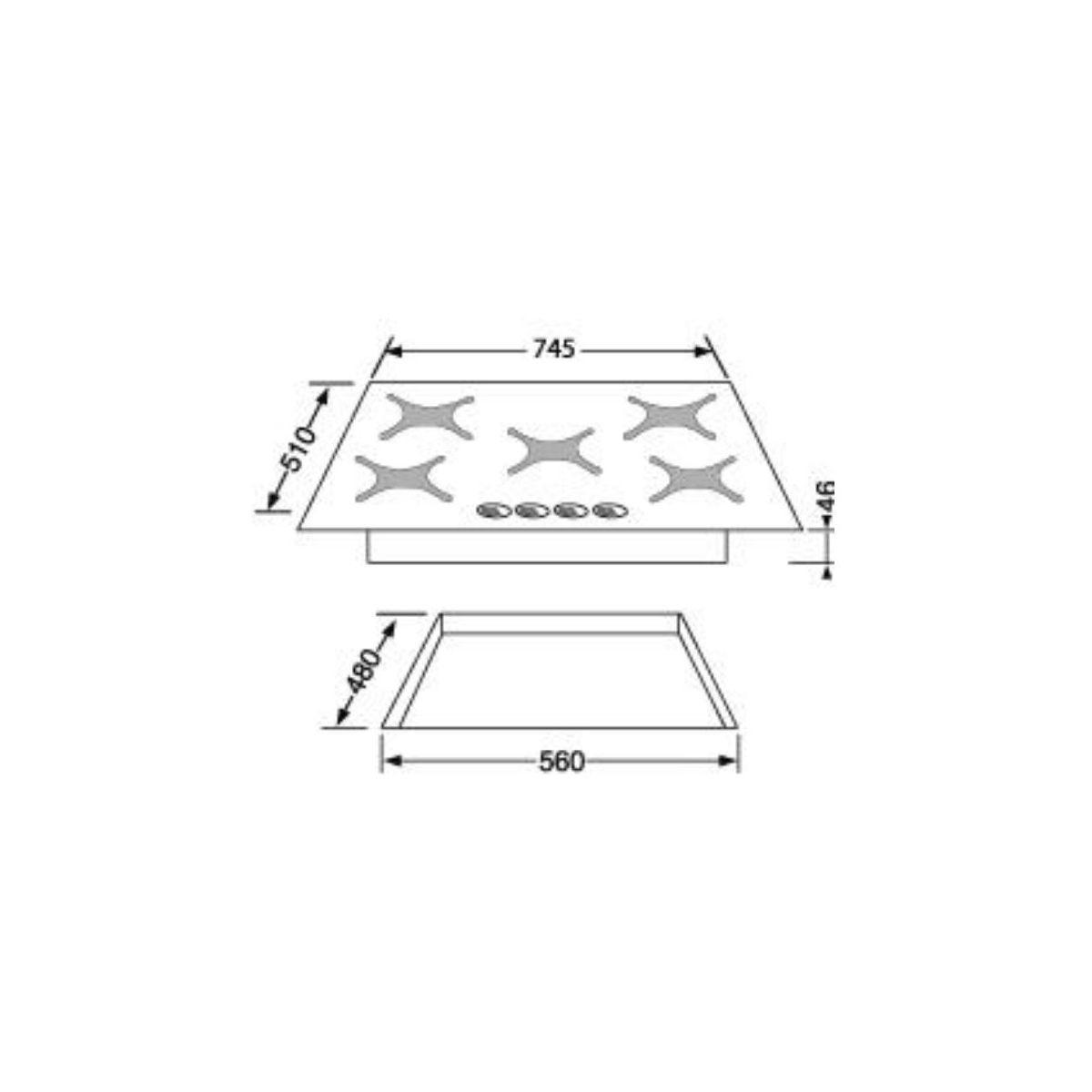 Table gaz rosieres rtv750fpn - 20% de remise imm�diate avec le code : gam20 (photo)