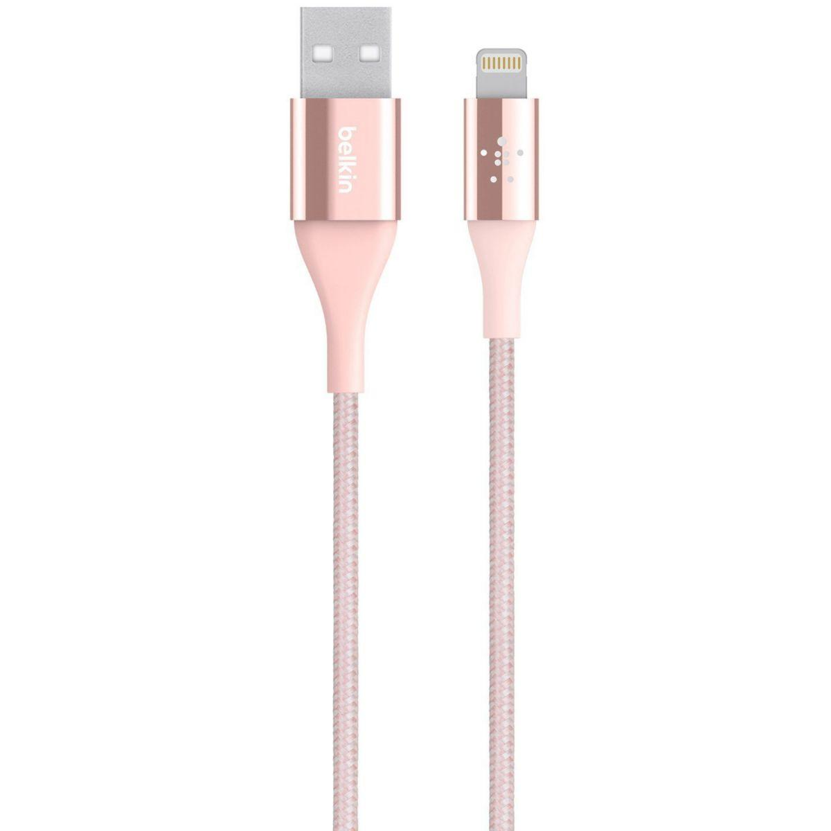 Câble lightning belkin kevlar 1m20 rose - 10% de remise immédiate avec le code : multi10 (photo)