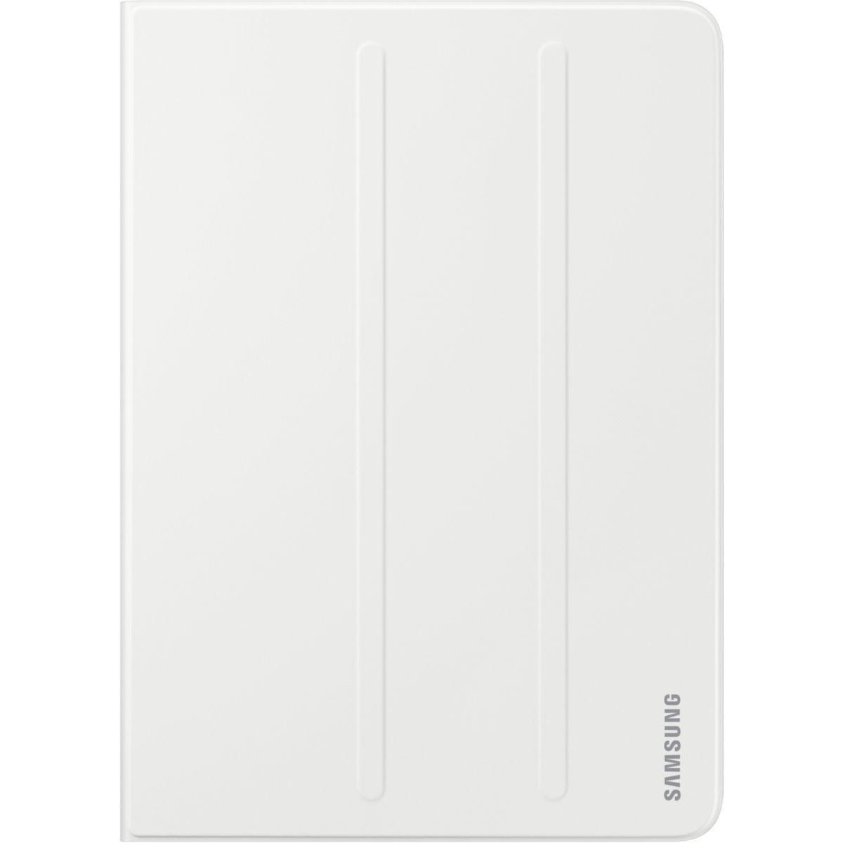 Etui tablette samsung book cover tab s3 blanc - livraison offerte : code premium (photo)