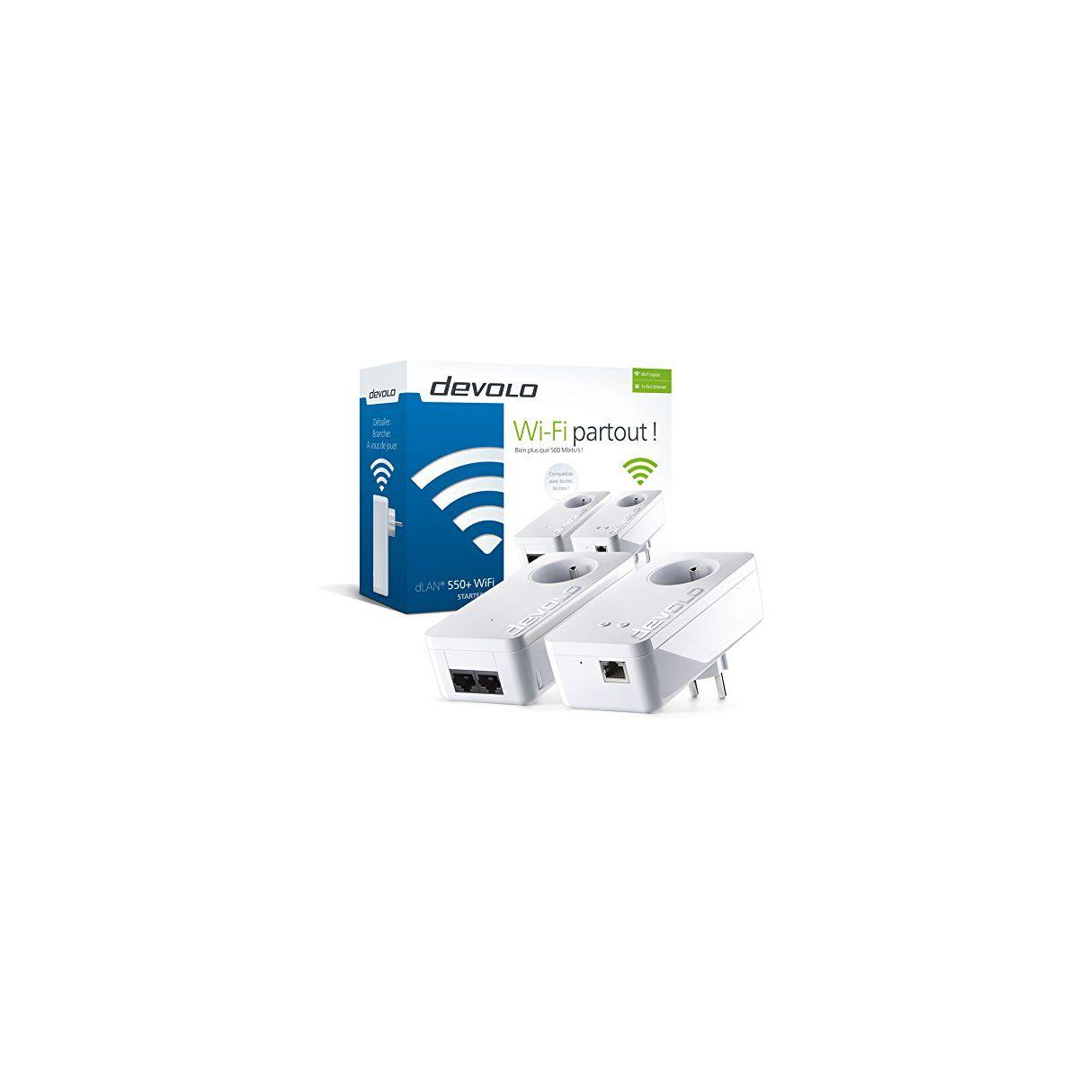 Cpl duo devolo dlan 550+ - starter kit a - livraison offerte : code liv