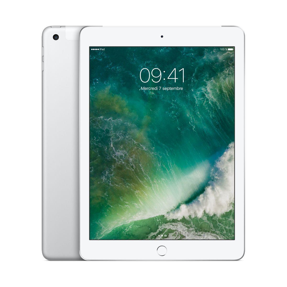 Tablette ipad new ipad 128go cel. argent - livraison offerte : code livrelais (photo)