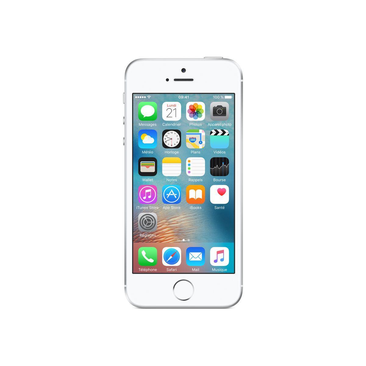 Smartphone apple iphone se 128go silver - livraison offerte : code livrelais