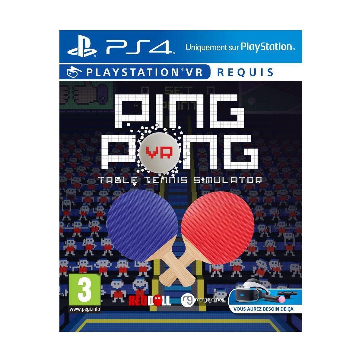 Jeu ps4 sony jeu vr ping pong table tenn - 2% de remise immédiate avec le code : cool2 (photo)
